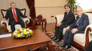 Başbakan Recep Tayyip Erdoğan , TMC Başkanı İshak İbrahimzadeh ve TMC Onursal Başkanı  Bensiyon Pinto...