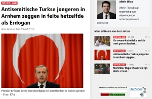 Antisemitische Turkse jongeren in Arnhem zeggen in feite hetzelfde als Erdogan door Afshin Ellian