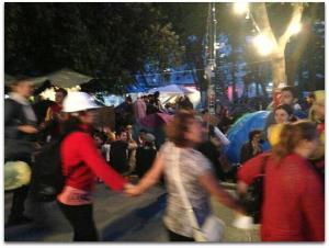 Mothers in #GeziPark tonight! Anneler burada! #direngezi