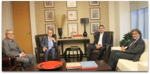 Kültür ve Turizm Bakanı Ömer Çelik, Türk Musevi Cemaati başkanları ve Cemaat Vakıfları temsilcisiyle bir araya geldi 12 Temmuz 2013