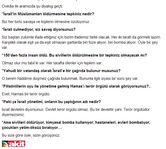 Akit Sylvio Ovadia röportajı