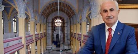 """Bakımsızlık sonucu """"Yıkılışından Yeniden Doğuşuna Edirne Büyük Sinagogu"""" FotoğrafSergisi"""