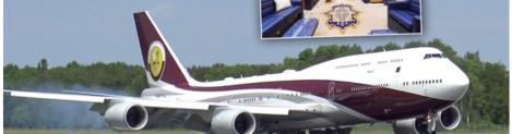 """Bu Katar da olur mu?  """"Hibe"""" ile satın alınan Boeing 747 """"Uçan Halı Sarayı""""soruları"""